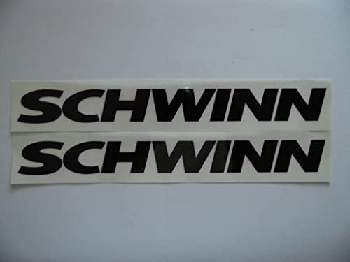 Clear Schwinn Cruiser Bike Bicycle Decal Set 17 Stickers Black