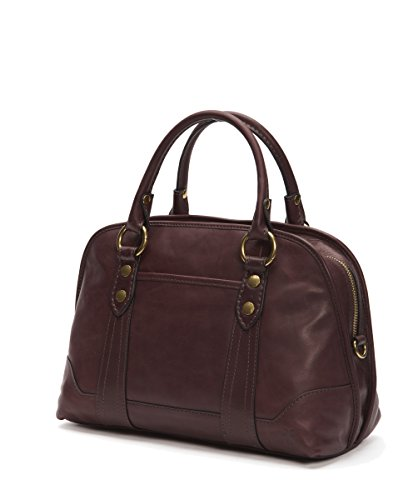 Satchel Leather Wine Melissa FRYE Smooth Leather Handbag Domed w8nxB