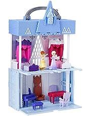 Disney Frozen 2 Pop Adventures - Arendelle Castle Play Set with Handle inc Elsa & Anna Dolls - Pop Up Floor - Kids Toys - Ages 3+
