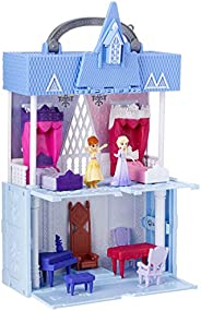 Disney Frozen Pop Adventures Arendelle Castle Playset with Handle, Including Elsa Doll, Anna Doll, & 7 Acc