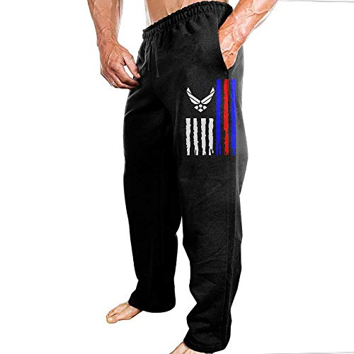 Air Force Logo Us Stripe Flag Men's Sweatpants Dry Heavyweight Sports Sweatpants Casual Sweatpants