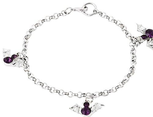 Go Batty Purple Rhinestone Bat Sparkle Bracelet - By Ganz ()