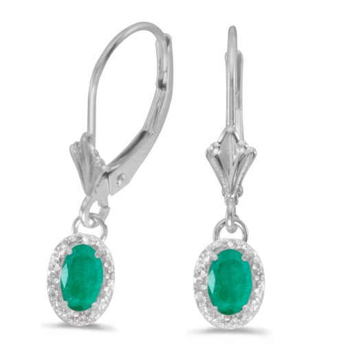 White Gold 6x4mm Oval Emerald - 1