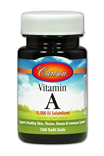 Carlson Vitamin A Solubilized as Retinyl Palmitate 10,000 IU, 100 Soft Gels