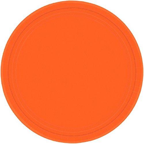 Amscan Orange Peel Round Paper Plates   7