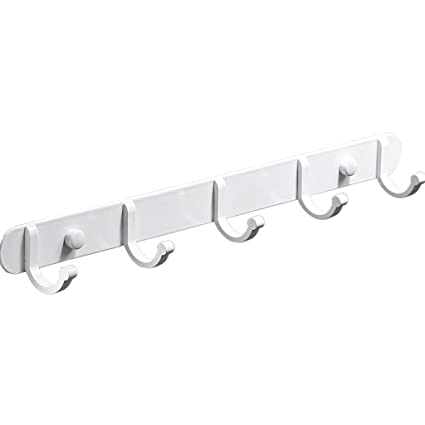 white hooks for wall