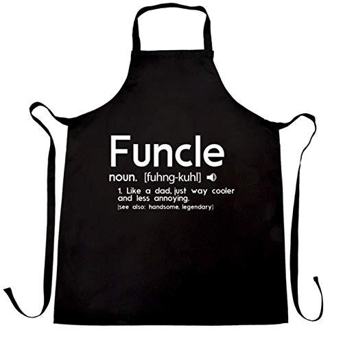 Ashasds Custom Chef Apron Novelty Chefs Apron Funcle Fun Uncle Pun Definition Joke for Women Men Barber Kitchen