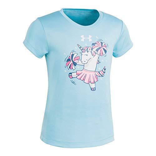 Under Armour Girls' Toddler Basic Short Sleeve Graphic Tee Shirt, Venetian Blue-S19, 3T ()