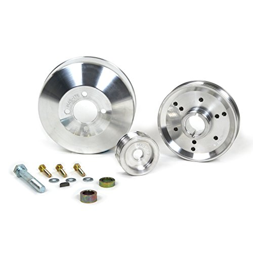 BBK 1555 Underdrive Pulley Kit for Ford Mustang 4.6/ GT/Cobra - 3 Piece Lightweight CNC Machined Aluminum Kit ()