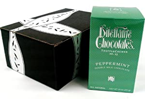 Dilettante Chocolates Peppermint Double Milk Chocolate TruffleCremes No. 23, 10 oz Package in a Gift Box