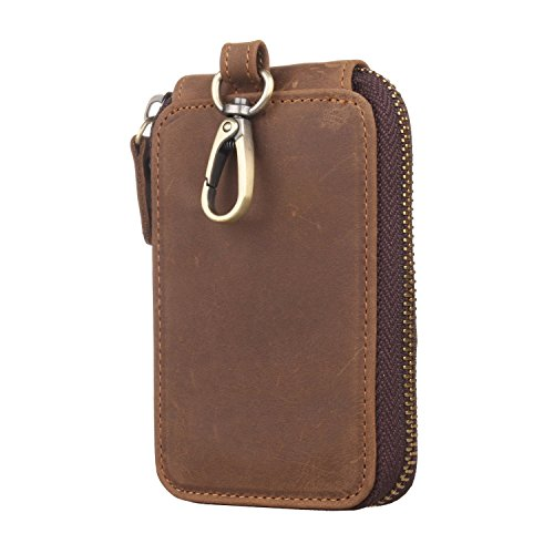 NEW Texbo Genuine Leather Key Case Chain Wallet Card Holder FREE SHIPPING