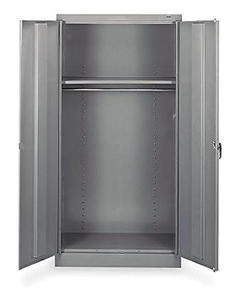 Amazon.com: Wardrobe Storage Cabinet, Gray 1471 GRAY: Industrial ...