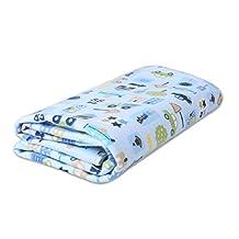 Blue Car Waterproof Bed Cover Infant Crib Sheet Newborn Keep Me Dry Pad 70*80 CM