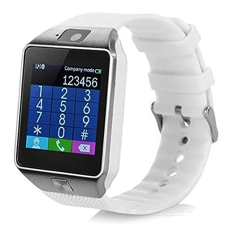 Reloj inteligente Pandaoo DZ09 con Bluetooth y cámara para Samsung, HTC, Sony y otros smartphones Android, con podómetro, seguimiento de actividad, ...