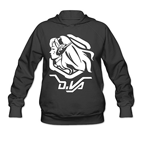 Overwatch Women's D.VA Hoodies Sweatshirt Size XL Black