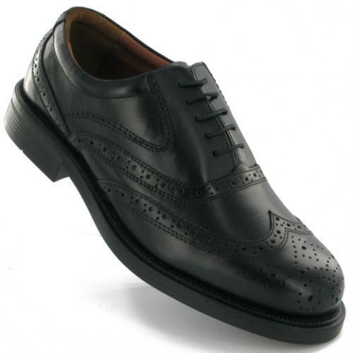 schwarz 6 UK Formal Größe Scimitar in Herren Schnürverschluss Herrenhalbschuh x8vwYXHXq