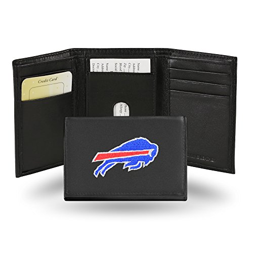 ON Pockets Themed Sports Football Flaps Metal Bills With Blue Gift Leather fold Inches Credit Wallet Patterned Fan Picture 4 X Tin NFL Cowhide Merchandise Mens 5 5 Black Tri Spirit Card 4 Red r4Rw7rq
