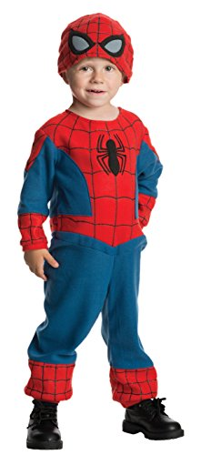 Spider Man New Costumes Comic (Rubie's Marvel Ultimate Spider-Man Classic Costume, Toddler - Toddler One Color)
