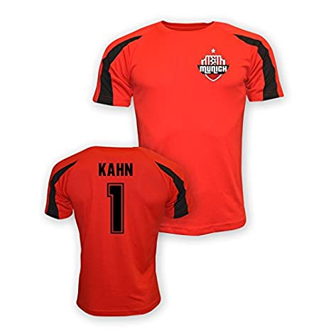 4f170e4dad6 Amazon.com   Olivier Kahn Bayern Munich Sports Training Jersey (red ...
