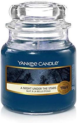YANKEE CANDLE A Night Under The Stars Kerze im Glas blau Small