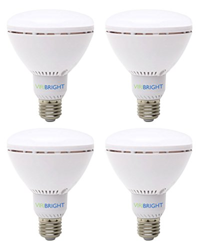 Viribright 754696, 65 Watt equivalent LED Flood Light Bulb, E26 Base, Daylight 6500K, 90+ High CRI, Pack of 4