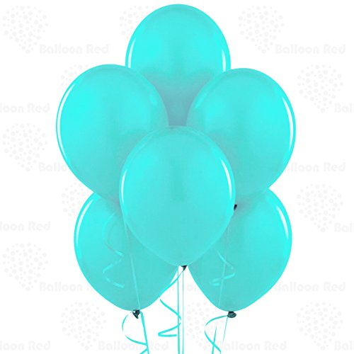 10 Inch Latex Balloons (Premium Helium Quality), Pack of 24, Turquoise Blue