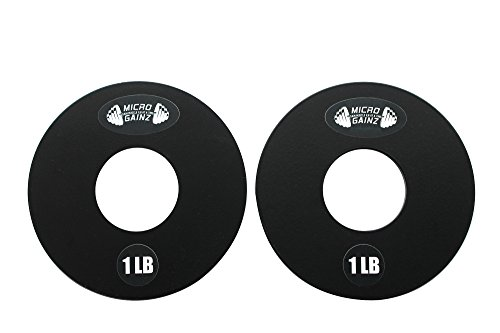 Micro Gainz 1LB Pair of Olympic Fractional Weight Plates Designed for Olympic Barbells, Used for Strength Training and Micro Loading