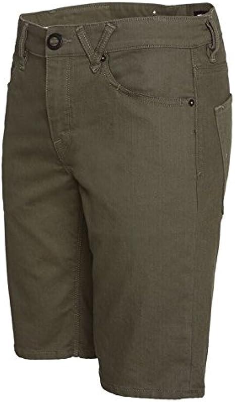 Volcom Solver Twill Chino Shorts in Old Blackboard