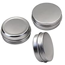 M-Aimee 2 oz Aluminum Tin Jars Screw Cap Round Storing Can Container,Cosmetic Sample Metal Tins Empty Container,60ml (15 pack)