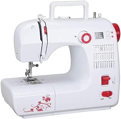 Máquina de coser eléctrica, 30 tipos de puntadas, hilo doble, 2 ...