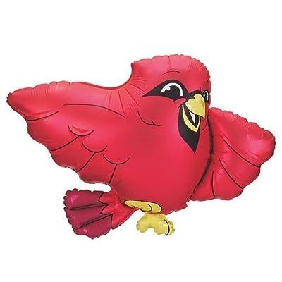 "Red Bird Cardinal 26"" mylar balloon BIRTHDAY PARTY Decorations Supplies Kit: Toys & Games"