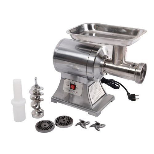 New Commercial Stainless Steel True 1HP Electric Meat Sauage Grinder No #12 Cabelas Ball Bearing