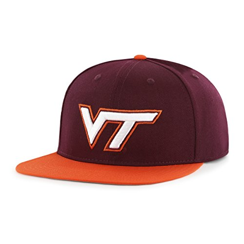 NCAA Virginia Tech Hokies Adult Gallant Ots Varsity Snapback Adjustable Hat, One Size, Dark Maroon