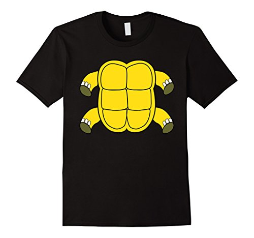 [Mens Funny Turtle Shell Costume Tshirt - Hilarious Halloween Gift Small Black] (Turtle Shell Design Costume)