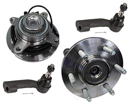 Detroit Axle - 4PC Front Wheel Hub and Bearing Assemblies w/Outer Tie Rods for 2011-2014 Ford F-150 / Expedition/Lincoln Navigator - 4WD 4x4 Excludes Heavy Duty (2013 Ford F 150 King Ranch 4x4)