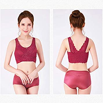 eamqrkt Wireless Front Cross Side Buckle Lace Lift Bra Breathable for Sports Yoga Running
