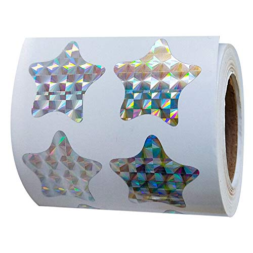 1.1 Size Gold Star - 500pcs/roll Glitter Gold Star Metallic Foil Decorative Scrapbook, Reflective Stickers for Kids