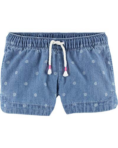 Osh Kosh Girls' Toddler Sun Shorts, Blue Print, ()