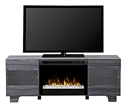 DIMPLEX Electric Fireplace, TV Stand, Media Console, Space Heater and Entertainment Center with Glass Ember Bed Set in Carbon Finish - Max #GDS25G8-1651CW
