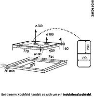 Encimera de inducción 77cm (Autárquica, 9,7kW, 9 pasos, 5 ...
