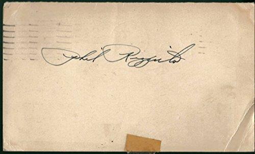 Phil Rizzuto Signed 1948 Postcard (Rookie Autograph) JSA