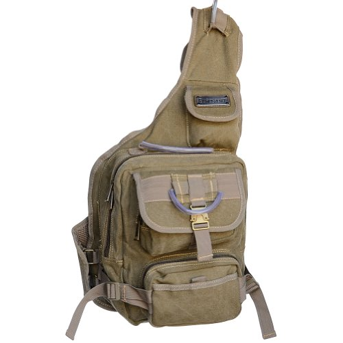 Eurosport Urban Style Canvas Sling Backpack B411, Khaki.