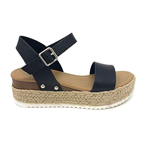Black Platform Sandals - 9