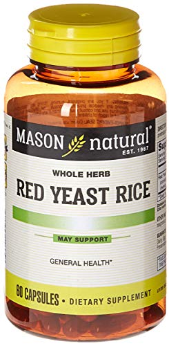 Mason Natural, Red Yeast Rice, 1200 mg, 60 Capsules Bottle (Pack of 3), Herbal Dietary Supplements May Help Maintain Healthy Cholesterol and Promote Circulation For Sale