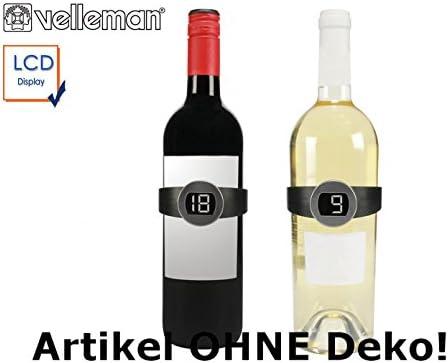 Juego de 2 termómetros digitales para botellas de vino con pinza