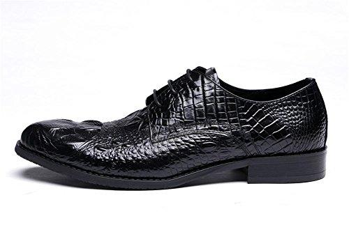 Hommes Crocodile Modèle Cuir Chaussures Intelligent Oxford Formel Entreprise pour hommes Lacer Noir marron Mariage Bureau Travail Noir aDFNIu