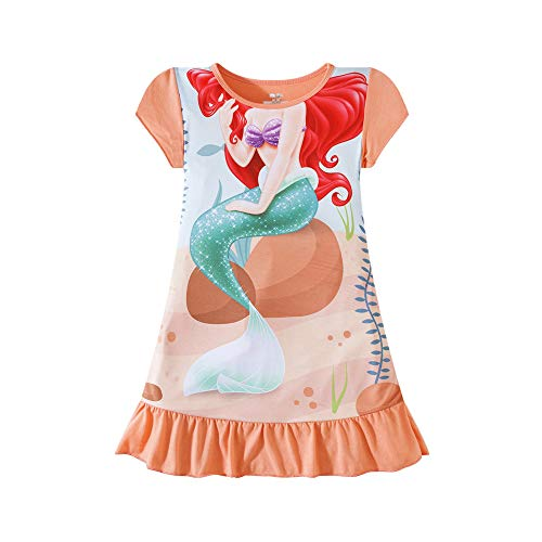BHTapparel Girls Mermaid Body Nightgown Princess Casual Pajamas Dress Sleep Shirts Nightie for Toddler