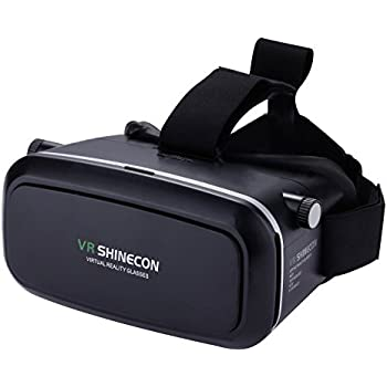 3D Vr Glasses Deruicent Virtual Reality Headset for iPhone 7/ 7 Plus/6s/6 plus/6/5, Samsung Galaxy, Huawei, Google, Moto & More Smartphone (Black)