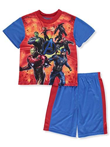 Avengers Marvel Big Boys' 2-Piece Pajamas - Blue/Multi, 8 ()