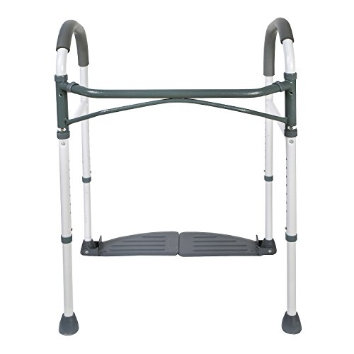 "Folding Toilet Handrails Safety Frame - 20"" Bathroom Grab ()"